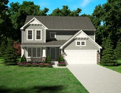 Traditions 2200 - Castle Creek Ridge: Galesburg, MI - Allen Edwin Homes