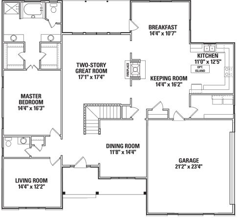 Wellington  - First Floor Plan