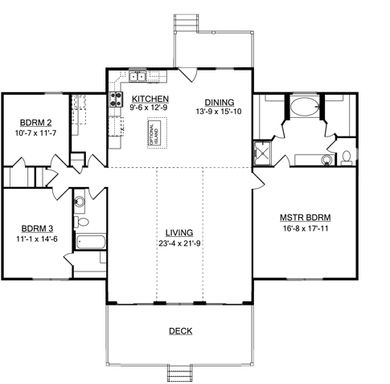 Mountainview I - First Floor Plan
