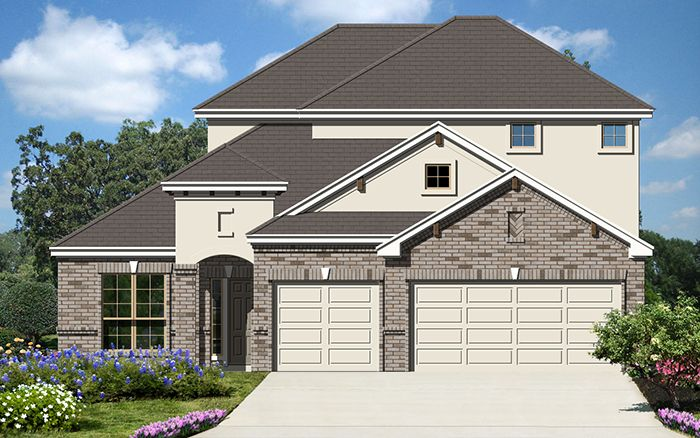 Meridian II (2799) - Fairway Ridge: Cibolo, TX - Armadillo Homes