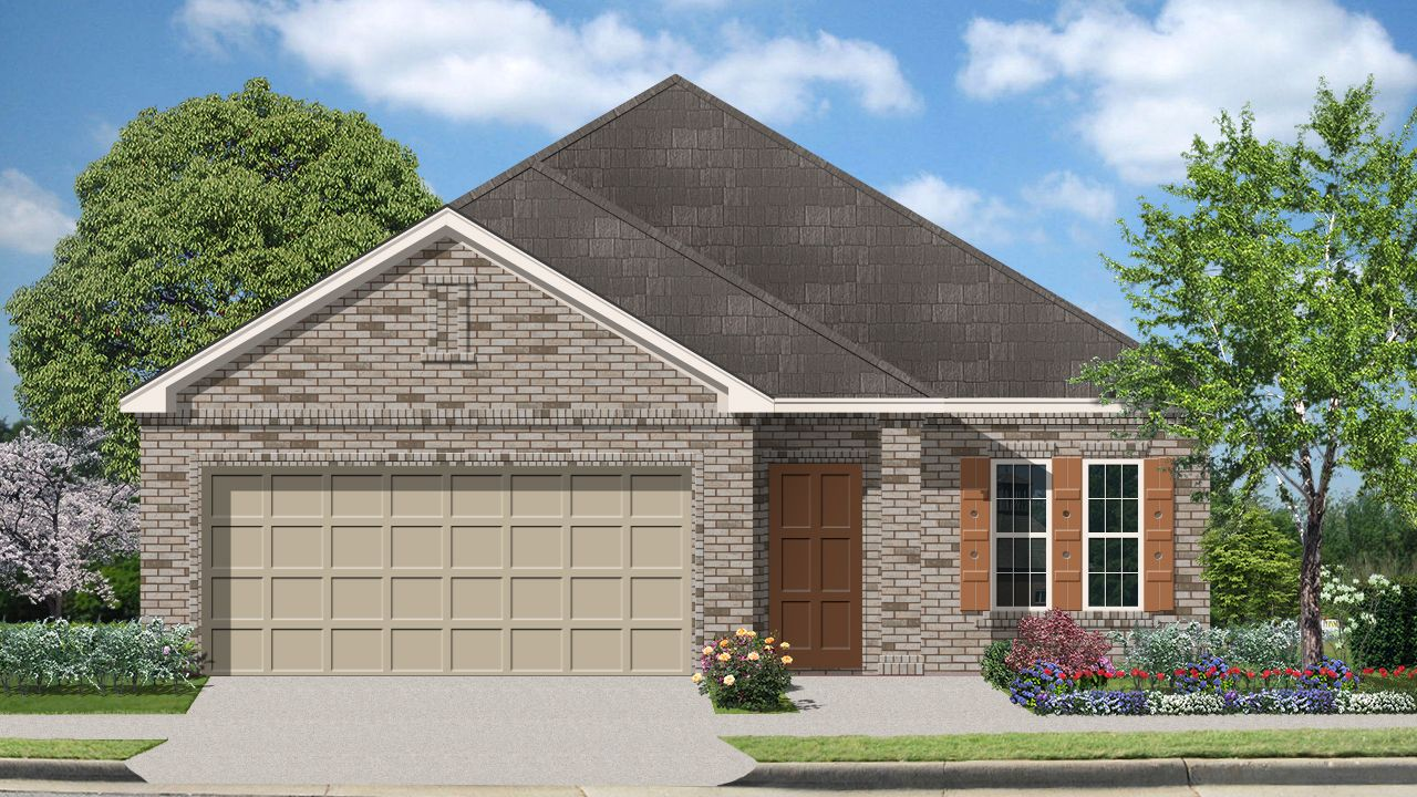 Robertson II (1750) - Mockingbird Heights: New Braunfels, TX - Armadillo Homes