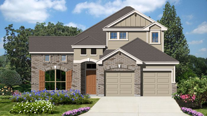 Edwards II (2401) - Mockingbird Heights: New Braunfels, TX - Armadillo Homes