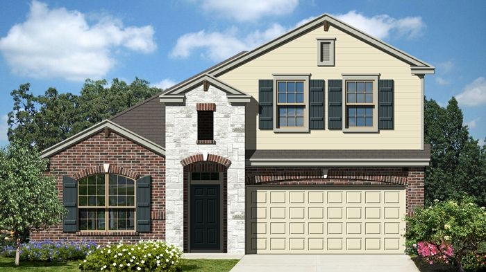 Kendall II (2614) - Cypress Point: Cibolo, TX - Armadillo Homes