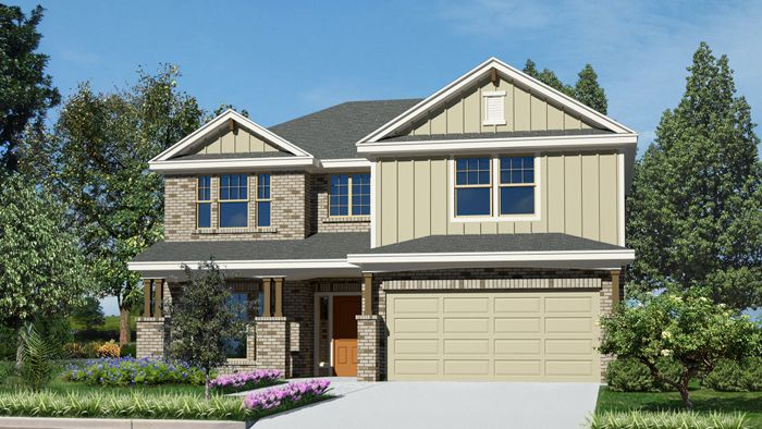 Kingsland II (2797) - Cypress Point: Cibolo, TX - Armadillo Homes