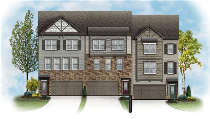 Chatham - Colonial Forge 24ft. Townhomes: Stafford, VA - Beazer Homes