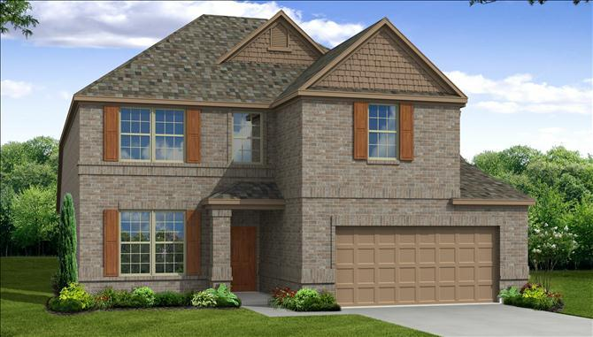 Blackburn - Lakeview at Sunset Pointe: Little Elm, TX - Beazer Homes