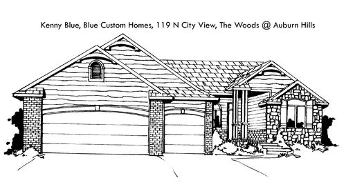 The Woods at Auburn Hills - Entry 11 by Blue Custom Homes, LLC in Wichita Kansas