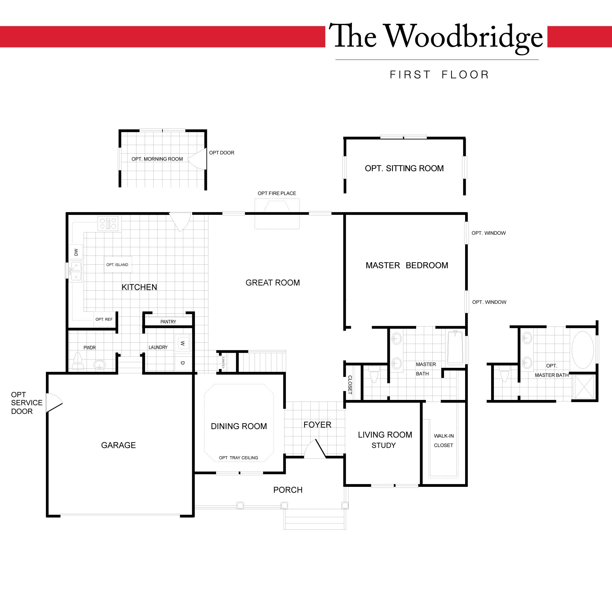 Standard Floor Plan - First Floor