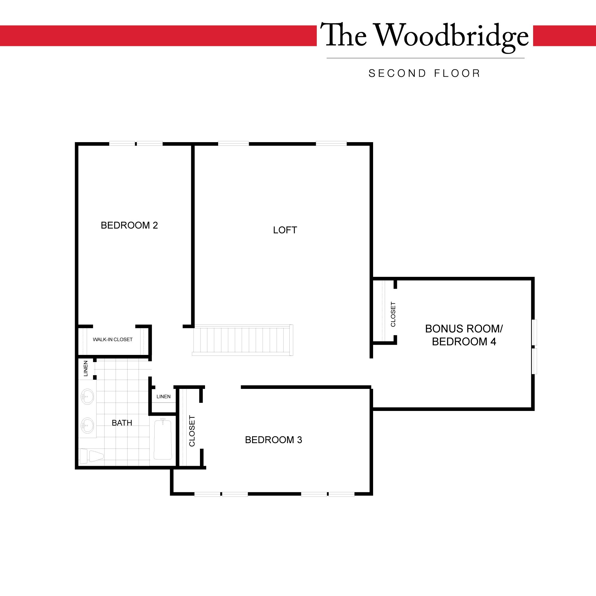 Standard Floor Plan - Second Floor