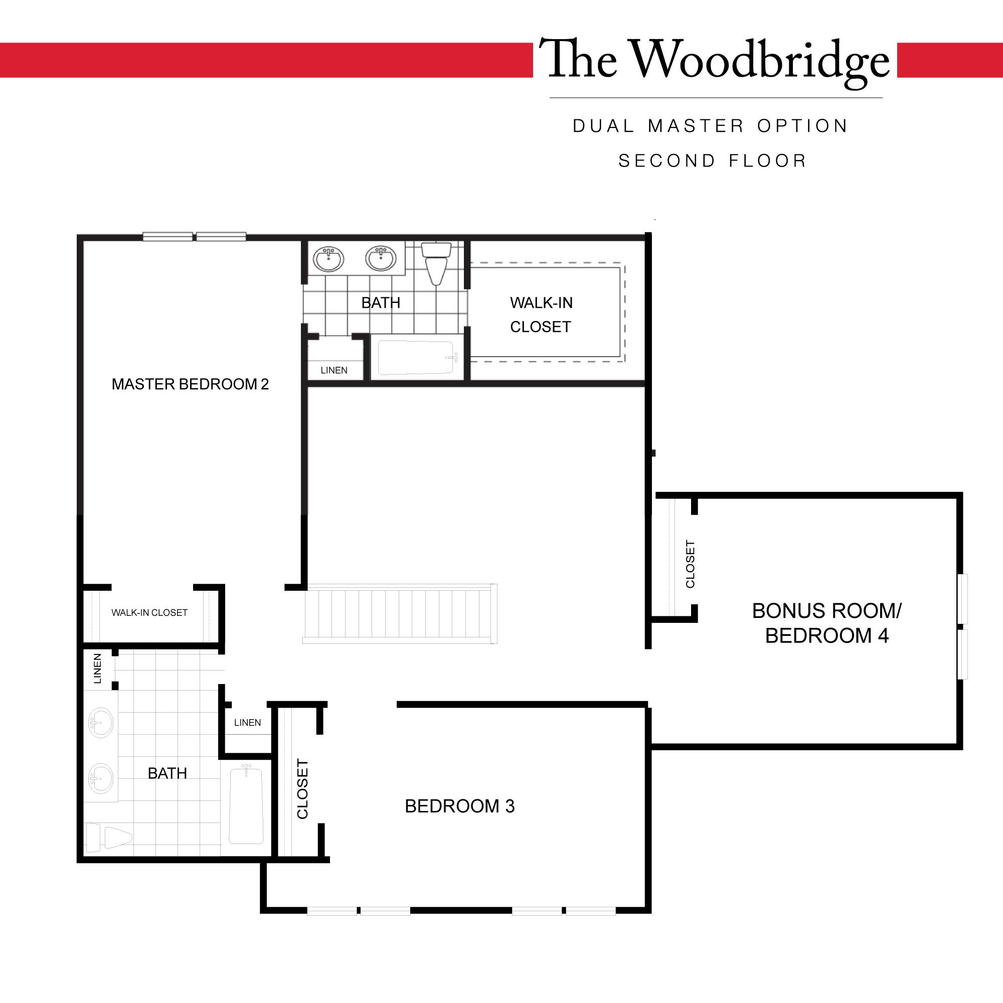 Dual Master Plan - Second Floor