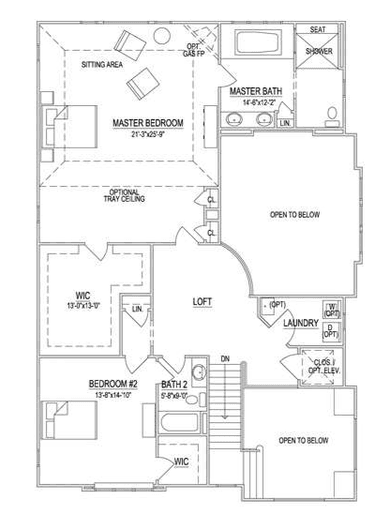 Second Floor - 2 BR Option