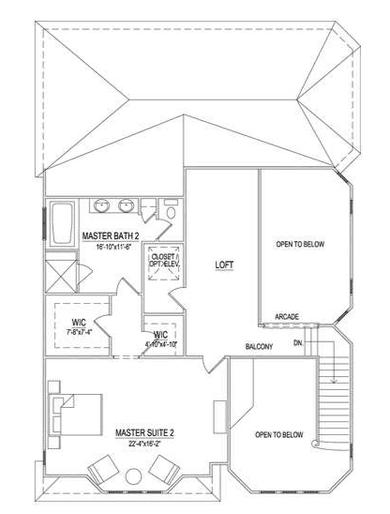 Second Floor - 2 BR Option