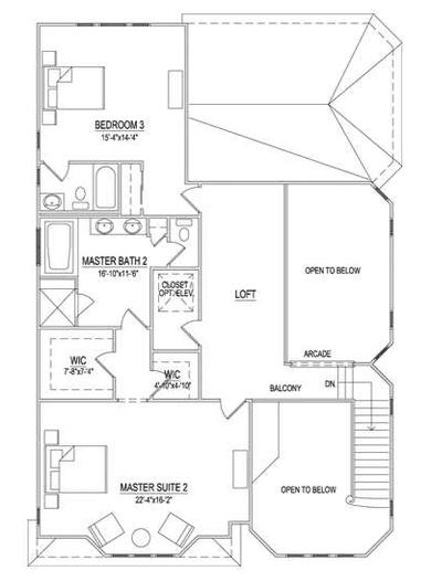 Second Floor - 3 BR Option