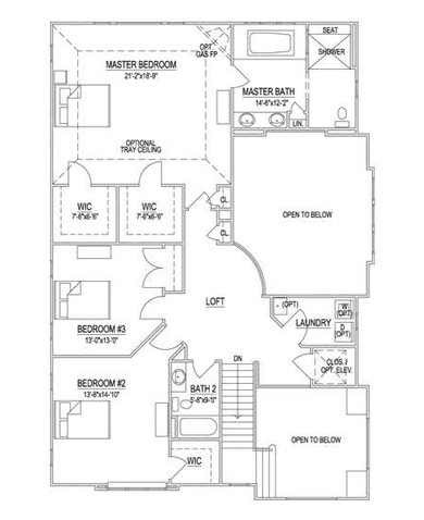 Second Floor—3 BR Option
