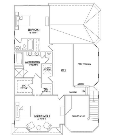 Second Floor - 3 BR Option