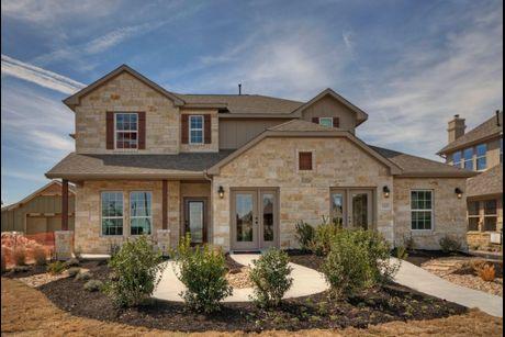 Santa rita ranch in georgetown tx new homes floor for Tallahassee pool builders