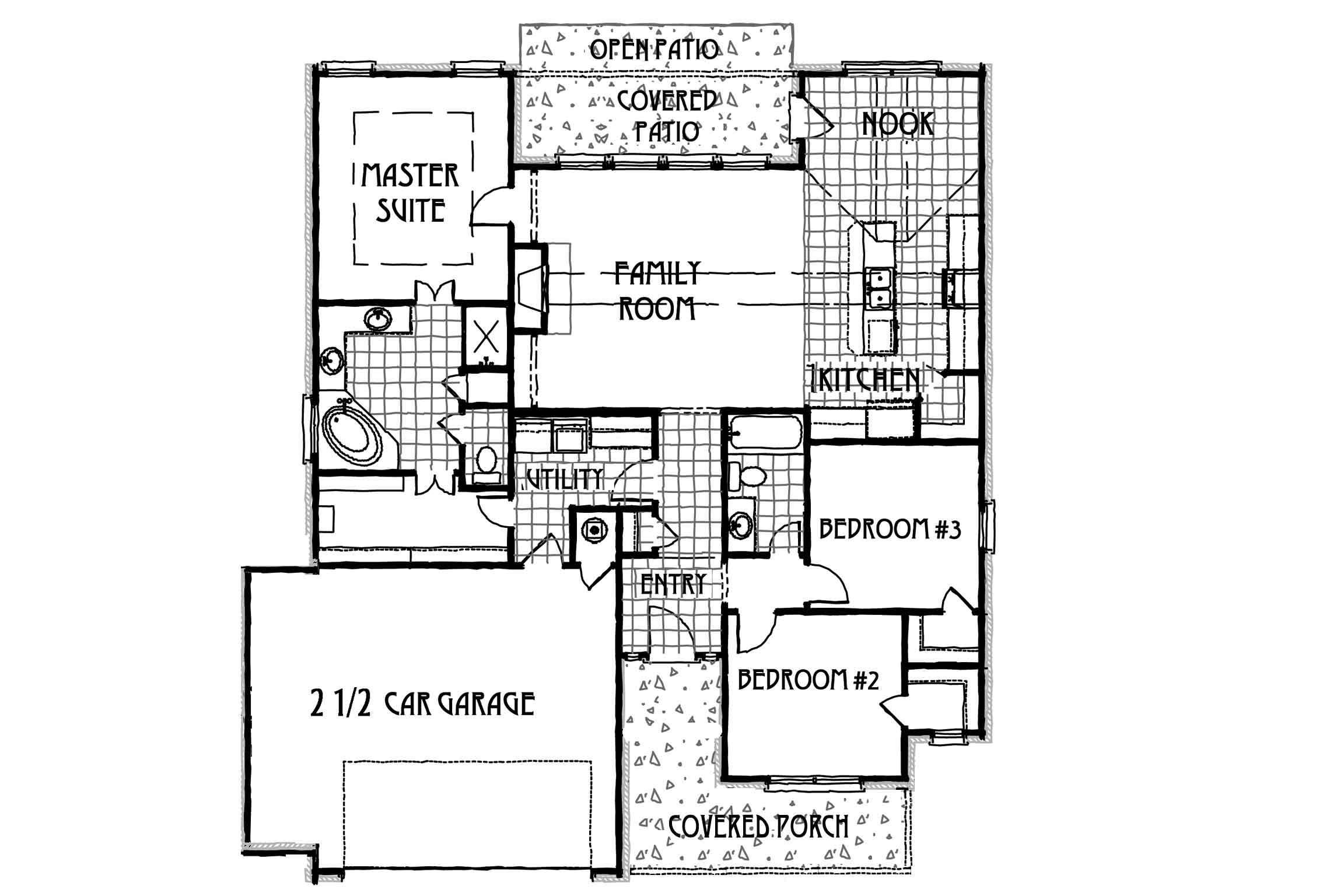 Concept builders hendricks tulsa home builders for Tulsa home builders floor plans