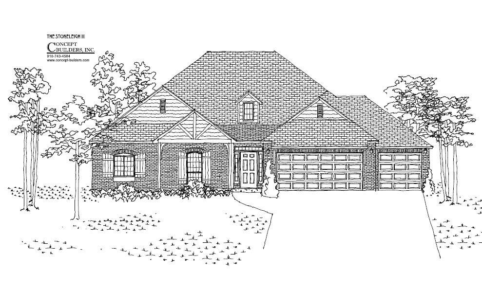 Concept builders stoneleigh iii tulsa home builders for House plans tulsa