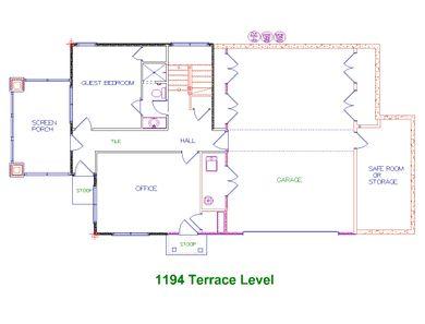 Candler Park Terrace Level Floor Plan