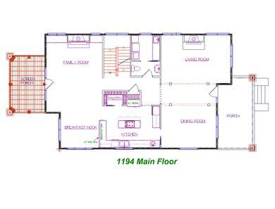 Candler Park First Floor Plan