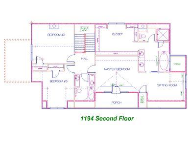 Candler Park Second Floor Plan