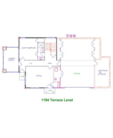 Candler Park Terrace Level Floor Plan