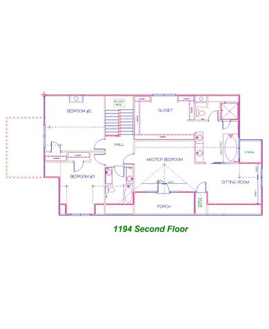 Candler Park Second Floor Plan