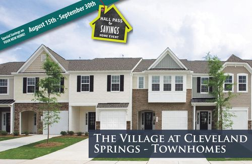 The Village at Cleveland Springs - Townhomes by Dan Ryan Builders in Raleigh-Durham-Chapel Hill North Carolina