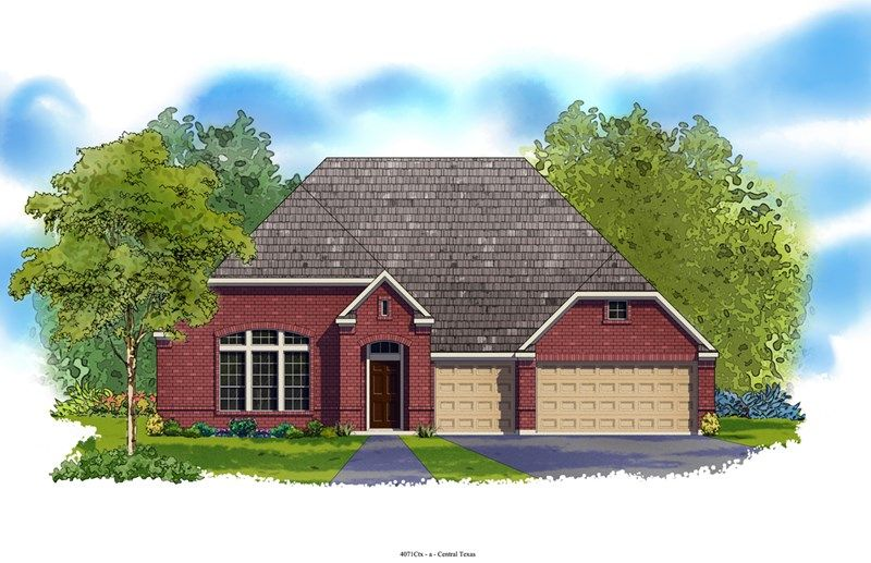 Hallman - Colony at Indian Springs: San Antonio, TX - David Weekley Homes