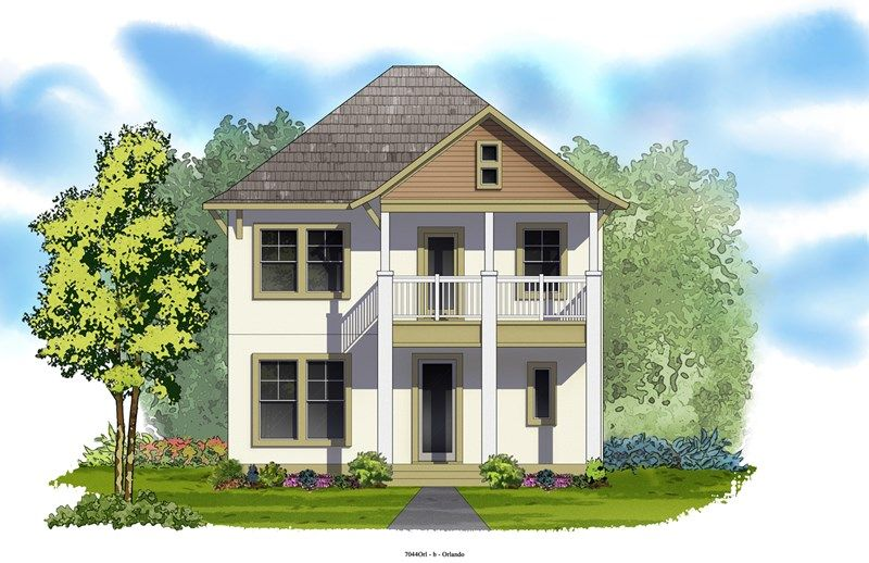 The Merton - Laureate Park at Lake Nona    Cottage: Orlando, FL - David Weekley Homes