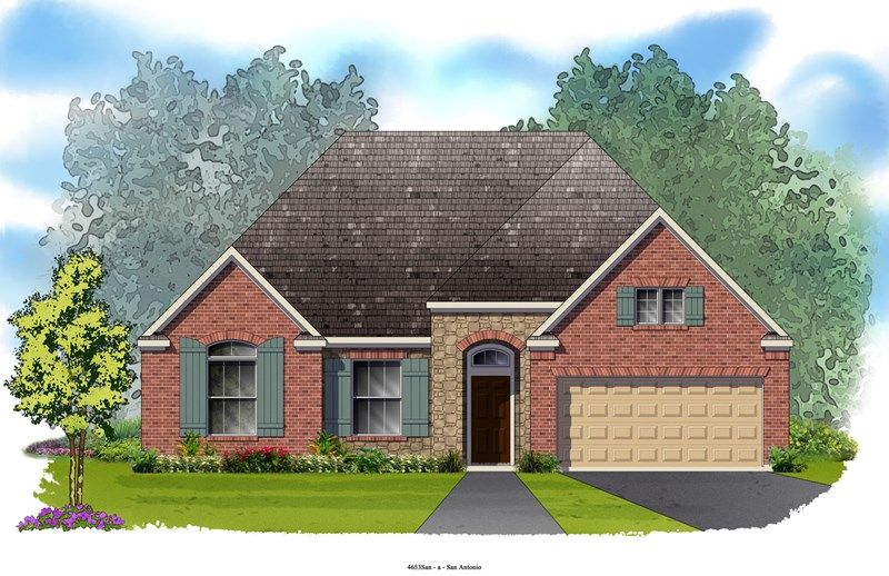 Corby - Mayfield Ranch - Parkside: Georgetown, TX - David Weekley Homes