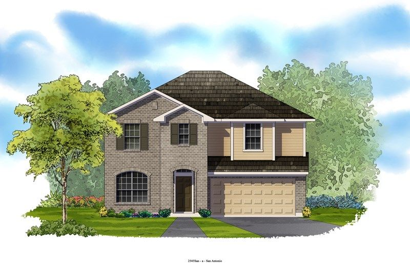 Erikson - Villages of Trinity Oaks: San Antonio, TX - David Weekley Homes