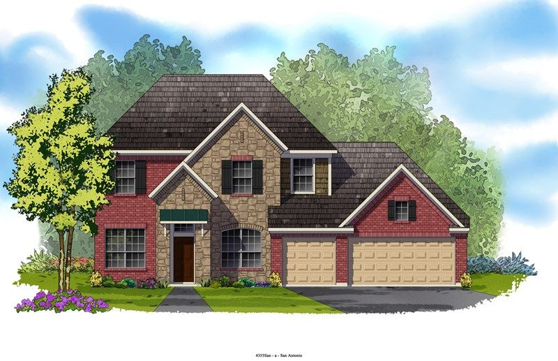 Fenner - Colony at Indian Springs: San Antonio, TX - David Weekley Homes