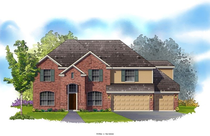 Paulette - The Preserve at Alamo Ranch 70' Homesites: San Antonio, TX - David Weekley Homes