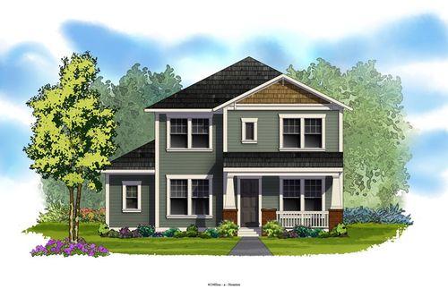 Lakeland Heights Village Series by David Weekley Homes in Houston Texas