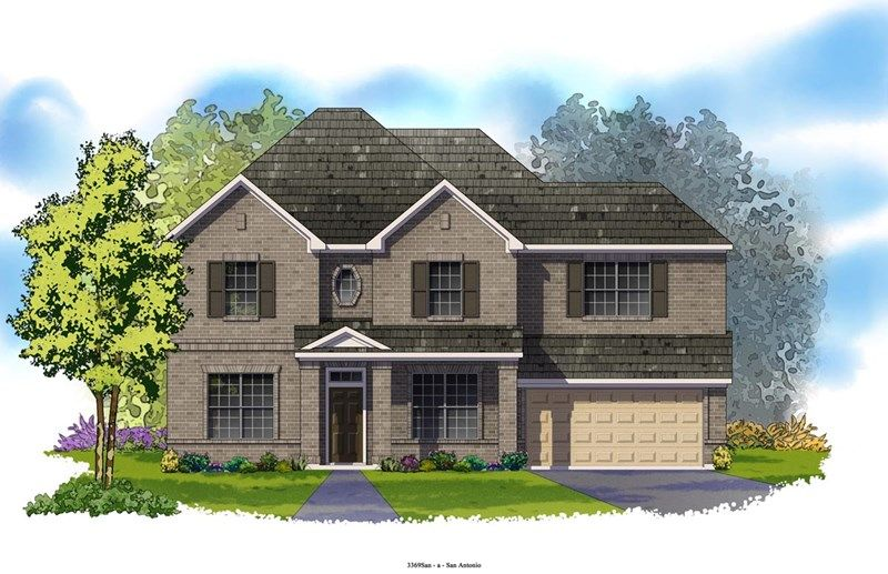 Hinton - Colony at Indian Springs: San Antonio, TX - David Weekley Homes
