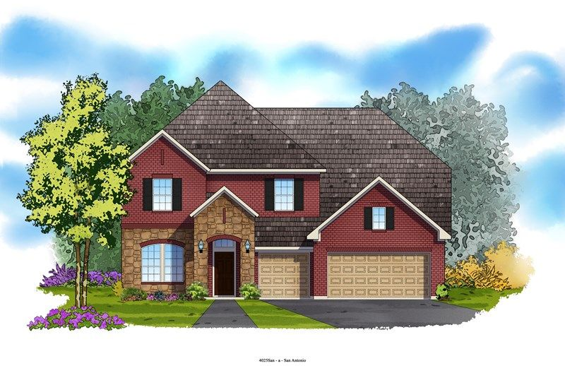 Trexler - Colony at Indian Springs: San Antonio, TX - David Weekley Homes