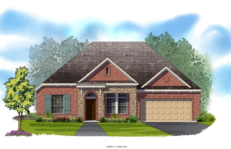 Breland - Blackhawk - The Park: Pflugerville, TX - David Weekley Homes