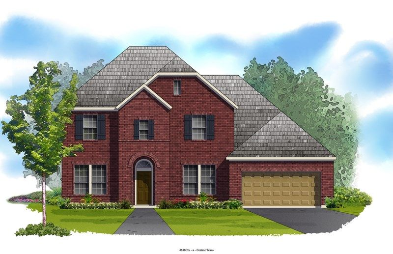 Applegate - Blackhawk - The Park: Pflugerville, TX - David Weekley Homes