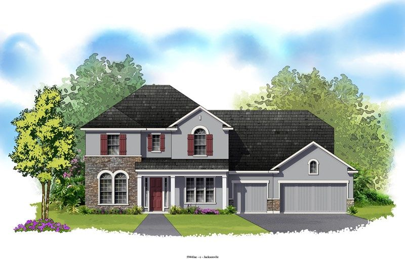Overlake - Crosswater at Pablo Bay - Executive Series: Jacksonville, FL - David Weekley Homes