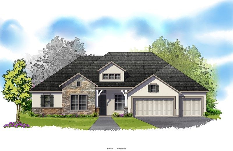 Southfield - Crosswater at Pablo Bay - Executive Series: Jacksonville, FL - David Weekley Homes