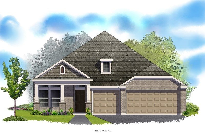 Hennessey - Mayfield Ranch - Parkside: Georgetown, TX - David Weekley Homes
