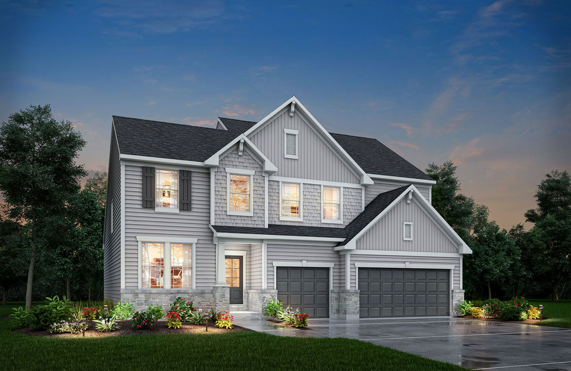 Belleville - Belmont Place at Brooks Park: Fishers, IN - Drees Homes