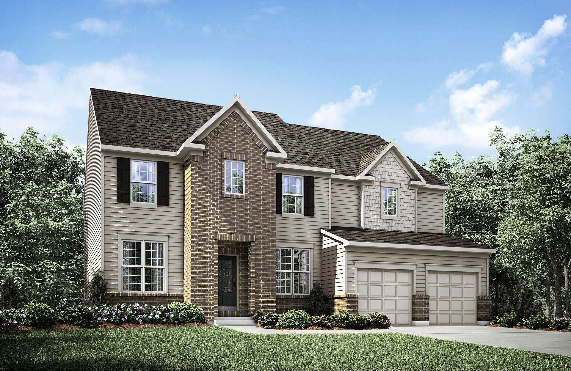 Cartwright - Belmont Place at Brooks Park: Fishers, IN - Drees Homes