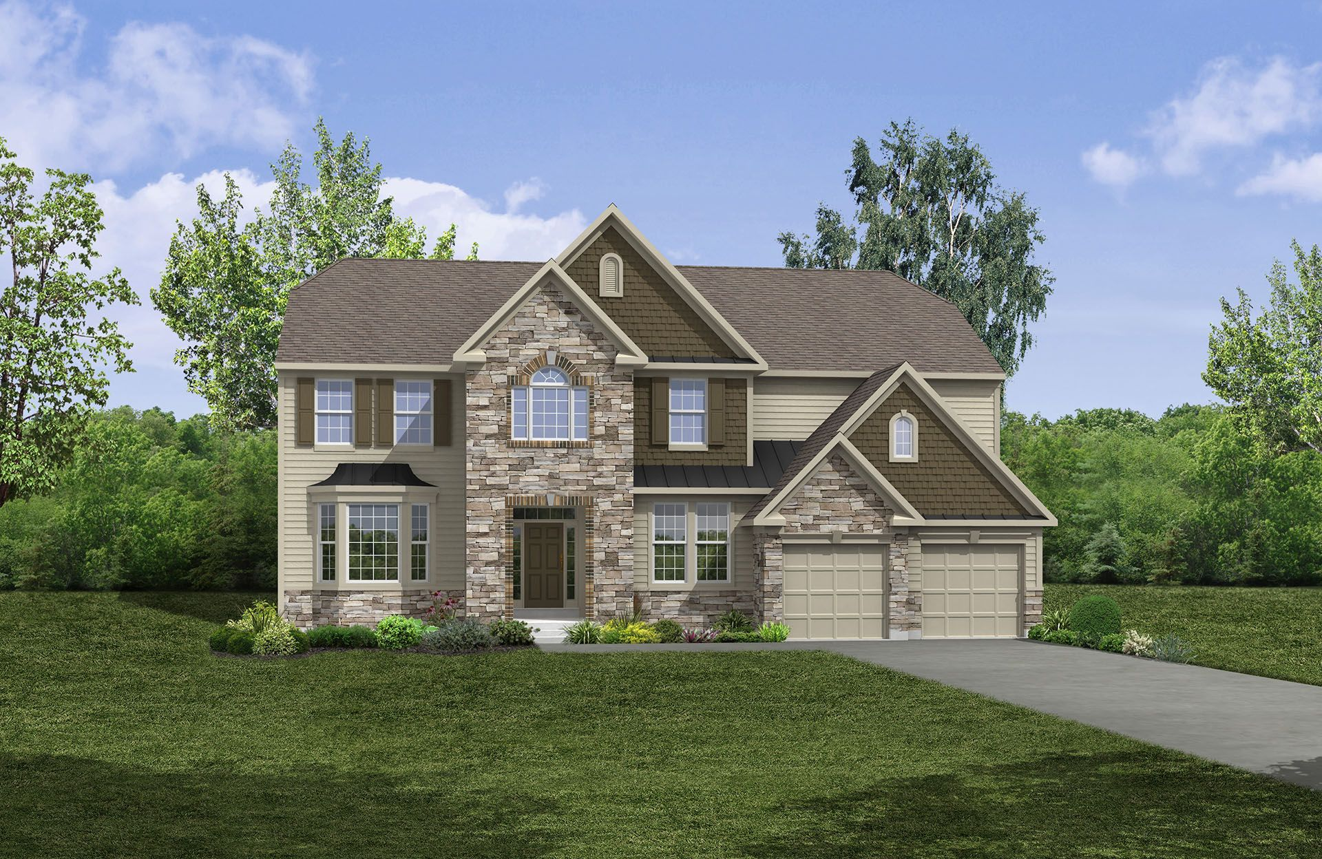 Britton - Belmont Place at Brooks Park: Fishers, IN - Drees Homes
