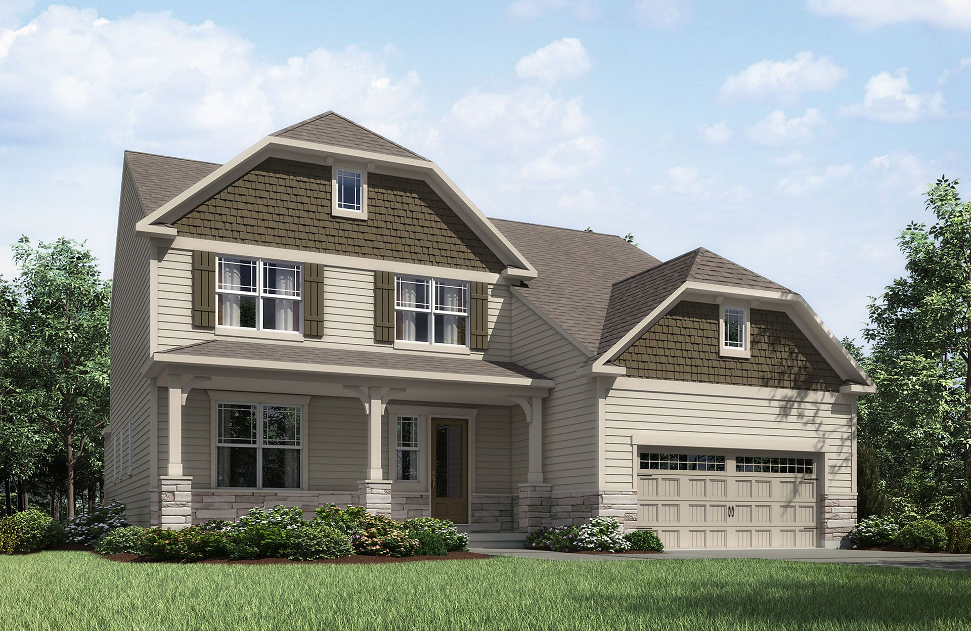 Rowan - Belmont Place at Brooks Park: Fishers, IN - Drees Homes