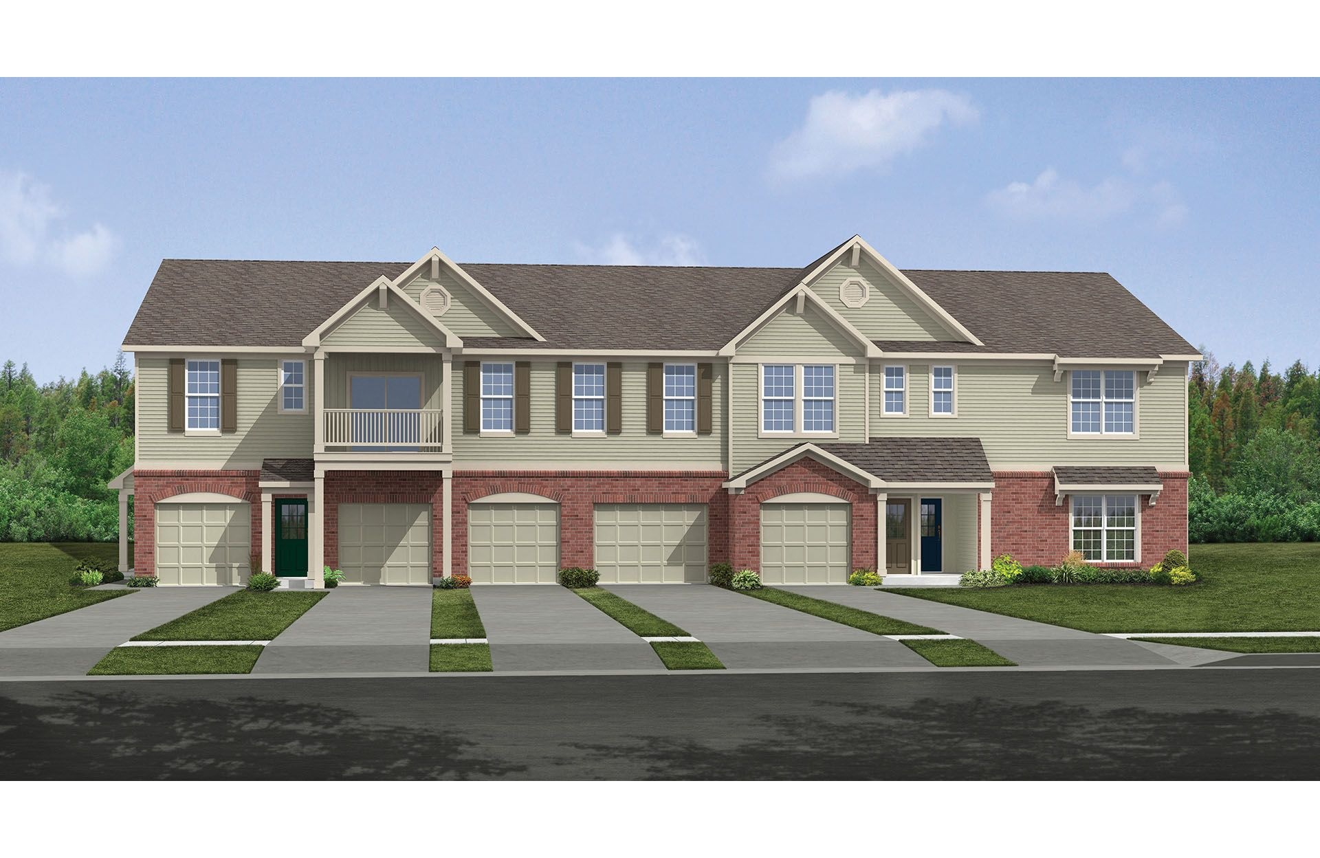 Aspen III - Crosspointe Condos & Townes: Batavia, OH - Drees Homes