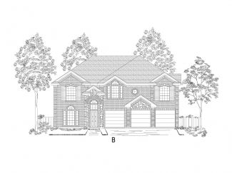 60' lots - Boston w/Media - Heron's Bay Estates: Garland, TX - Gallery Custom Homes