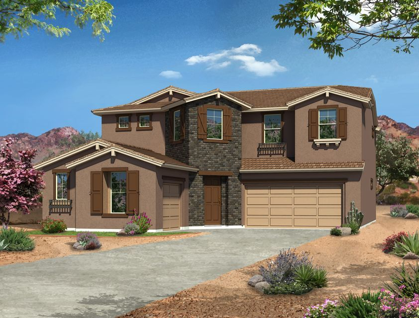 front elevation of new homes builder in Phoenix, Gehan Homes