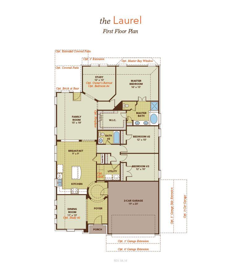 Laurel model at 1213 caney creek drive for Laurel river house plan
